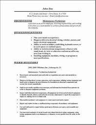 Maintenance Technician Resume Best Maintenance Technician Resume Occupationalexamples Samples Free