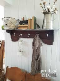 Coat Rack Shelf Diy Repurposed Coat Rack DIY by a PreTeen Prodigal Pieces 57