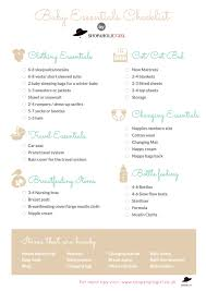 Baby Check List Baby Essentials New Baby Checklist What Do You Need For