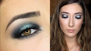 teal halo smokey eye makeup tutorial you