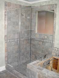 image of simple frosted glass shower doors