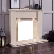 the elgin roman stone marble electric fireplace