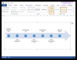 How To Prepare A Timeline Chart How To Make A Timeline In Microsoft Word Free Template