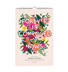 Paper Flower Quotes Amazon Com Rifle Paper Cal035 2018 Inspirational Quotes Calendar