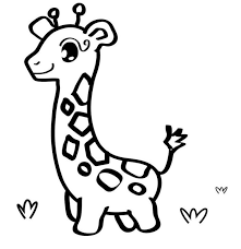 Small Picture Baby Giraffe Free Coloring Pages Of Animals Appliques