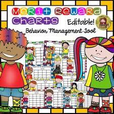 Back To School Behavior Management Reward Merit Charts Kids Color