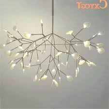 modern branch chandelier white tree branches chandeliers suspension hanging light throughout view diy mod