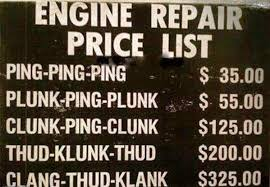 Mechanic Quotes Inspiration Engine Repair Price List