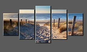 canvas prints sk006 wall art beach stretched and framed ready to hang 5 panels on amazon beach canvas wall art with amazon canvas prints sk006 wall art beach stretched and framed