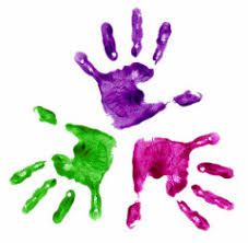 Image result for three child paint hands