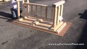Log Dining Room Tables Rustic Natural Cedar Harvest Log Dining Table Log Table Assembly