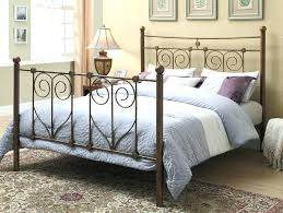 Home Head And Awesome Rustic Metal Traditional Feel King Footboard ...