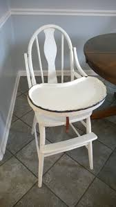 antique 1930 039 s wooden baby high chair with enamel tray