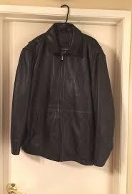 men s leather jacket brandini size large