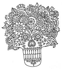 Small Picture 170 best Sugar Skull Coloring Pages images on Pinterest Sugar