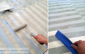 diy striped painted rug in about 2 5 hours