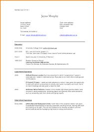 Law School Applicant Resume