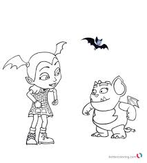 Vampirina Coloring Pages Vampirina And Gregoria Free Printable
