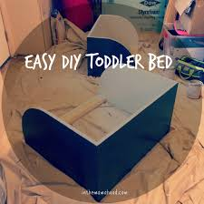 Diy Toddler Bed Easy Diy Toddler Bed In The Mamahood