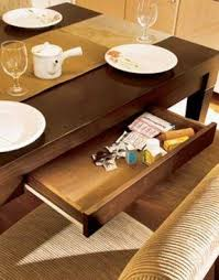 Tidy dining table drawer furniture drawer at dining table helps