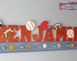 Sports Coat Rack Sports Letters 100 Full Name Sports Decor Sports 4