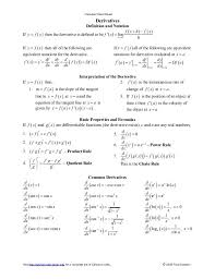 (for this problem, you don't have to state which rules you used; Calculus Calculus Cheat Sheet Derivatives Calculus Math Formulas Physics And Mathematics