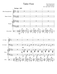 Take Five By The Dave Brubeck Quartet Sheet Music For Piano