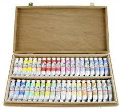 15077 Mahogany Watercolour Box Old Holland Classic Colours