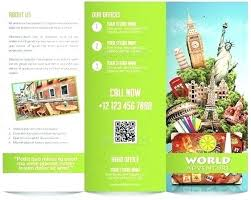 Brochure Template Travel Holiday Map Printable Vacation