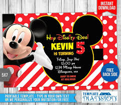 Make Your Own Mickey Mouse Invitations Post Taged With Mickey Mouse Party Invitations Free