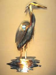 blue heron metal wall art ideas design golden expensive great canvas flying w great blue heron fishing ii wood wall art