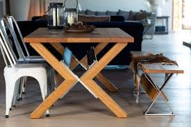 contemporary dining table with architectural details