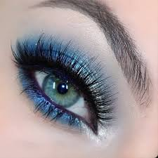 silver blue eye makeup a fun but sophisticated look with tiffany designs dress for