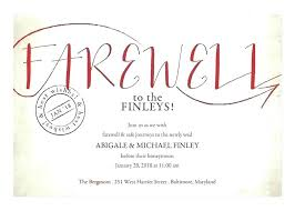 Farewell Invites For Colleagues Goodbye Invitations Farewell Going Away Party Invitation