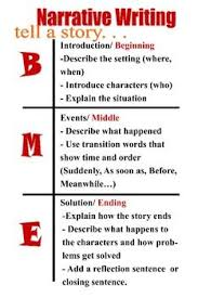 Narrative Writing Bme Chart Story Grammar Teaching