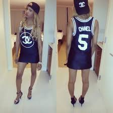 chanel jersey. shirt chanel clothes jersey teyana taylor shoes hat jewels dress top jersery