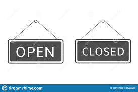 Closed Signs Template Open Closed Hanging Sign Stock Illustration Illustration Of