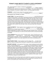 Free Pennsylvania Standard Residential Lease Agreement Form Pdf ...