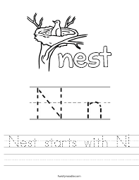 Letter N Worksheets - Twisty Noodle