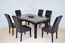 alluring 6 piece dining table set espresso finish huntington beach modern room chair sets throughout