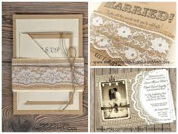 Burlap And Lace Wedding Invitations Burlap And Lace Wedding Decorations The King And Prince Blog