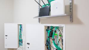 multiple structured media panels and a simple networking component rack system can offer maximum flexibility for
