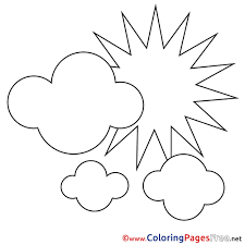 Small Picture Clouds Summer free Coloring Pages Sun