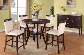 fabric parsons chairs rounded wooden furniture kent taa lynnwood counter height espresso table with cream chairs round dining room parsons