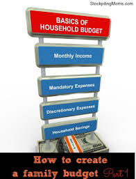 Family Budget For A Month How To Create A Family Budget Stockpiling Moms
