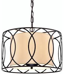 everly 3 light double drum chandelier oil rubbed bronze