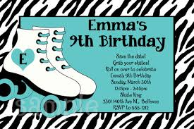 Print Out Birthday Invitations Simple R Simple Free Printable Roller Skating Birthday Party Invitations