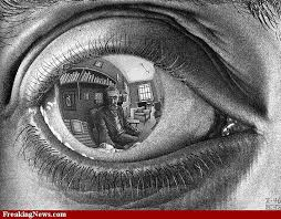 mirror reflection drawing. eye reflection drawing   escher drawings pictures gallery - freaking news mirror