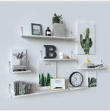 wall floating shelf wood storage