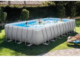 rectangle above ground swimming pool. Intex 24\u0027 X 12\u0027 52\u0027 Ultra Frame Rectangular Above Ground Swimming Pool Rectangle O